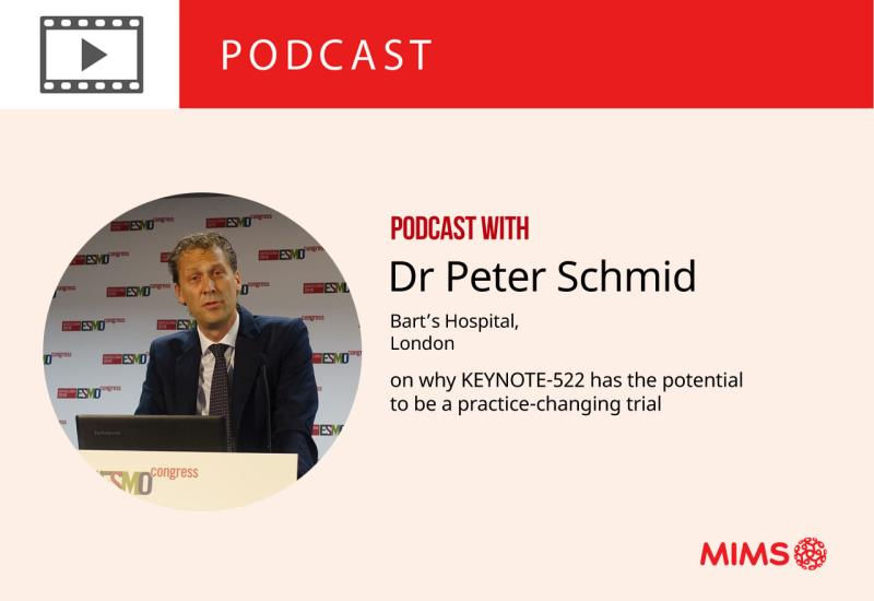 Podcast: Dr Peter Schmid on why KEYNOTE-522 has the potential to be a practice-changing trial