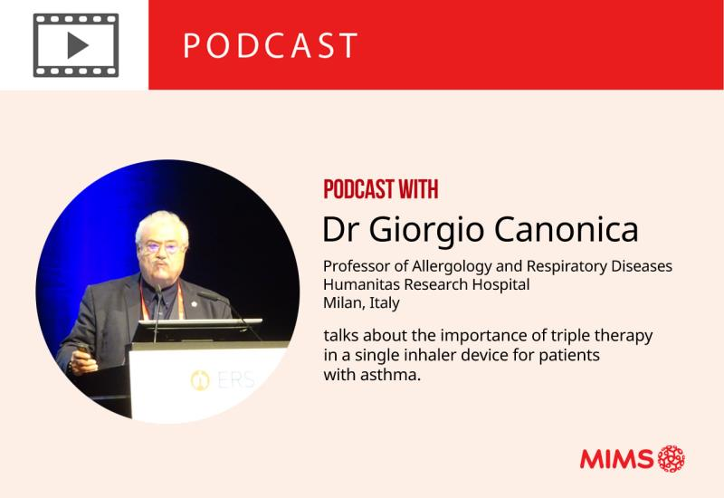 Prof Giorgio Walter Canonica talks about the importance of triple therapy in a single inhaler device for patients with asthma.
