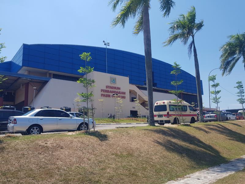 Pasir Gudang Indoor Stadium during the emergency period. (Photo credit: Ong Aik Liang)