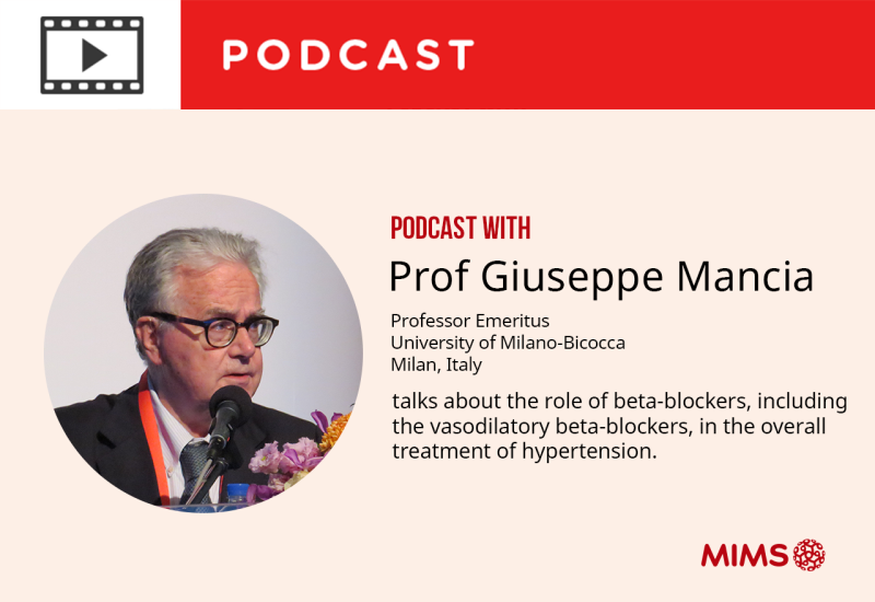 Podcast: Professor Giuseppe Mancia talks about the role of beta-blockers in the overall treatment of hypertension
