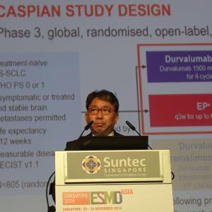 CASPIAN: Durvalumab + platinum-etoposide improves OS in ES-SCLC