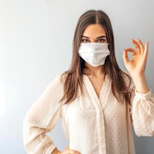 Surgical masks offer good protection against aerosols, but not cloth masks or face shields