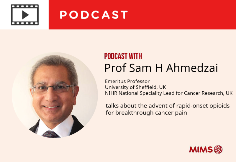 Podcast: Interview with Professor Sam H Ahmedzai: Advent of rapid-onset opioids for breakthrough cancer pain